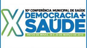 Pré-conferências Municipais de Saúde começam nesta sexta-feira em Patos de Minas