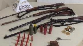 Acusado preso com armas e munições na cidade de Conquista