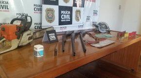 Homem preso por posse de arma de fogo e munições