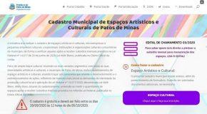 Patos de Minas reabre cadastro de espaços culturais para acesso à verba da Lei Aldir Blanc