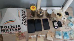 Operação da PM em Araxá prende suspeitos por tráfico no Ana Pinto de Almeida e Pedra Azul