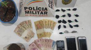Operação conjunta entre PM e PC prende acusados de tráfico em Nova Ponte