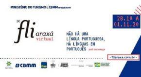 Edição virtual do Fliaraxá, em 2020, começa dia 28 de outubro
