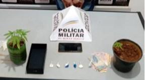 Ação da PM prende suspeitos com drogas em Perdizes e Santa Juliana