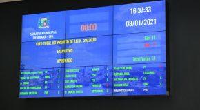Câmara mantem veto de Robson Magela e novo Orçamento começa a tramitar