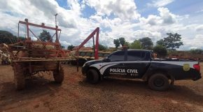 Polícia Civil em Araxá recupera máquina agrícola avaliada em 40 mil reais