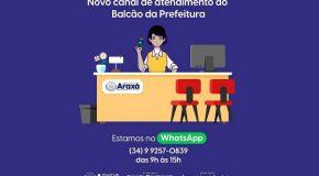 Balcão da Prefeitura de Araxá lança atendimento por WhatsApp