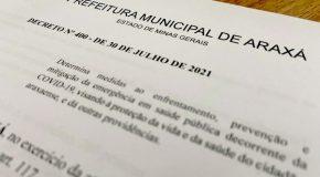 Novo decreto em Araxá libera eventos com regras de biossegurança; outras proibições também foram revisadas