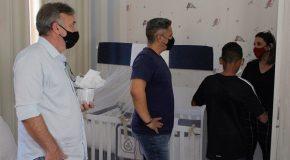 Prefeito e vice visitam unidades de acolhimento de Araxá