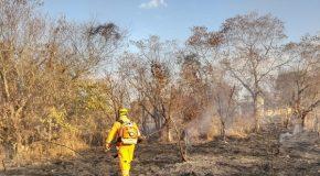 Incêndio atinge Chacreamento Jardim das Acácias, na zona rural de Araxá