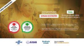 Araxá realiza mais um curso gratuito para certificação de bares e restaurantes