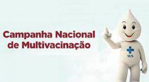 Campanha de Multivacinação de Crianças e Adolescentes em Araxá vai começar
