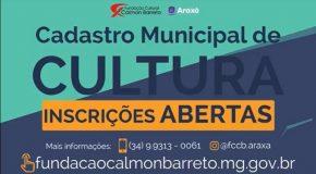 Fundação Cultural Calmon Barreto prorroga cadastramento de artistas em Araxá