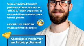 Senac tem vagas de emprego em Araxá, Patos de Minas e Patrocínio