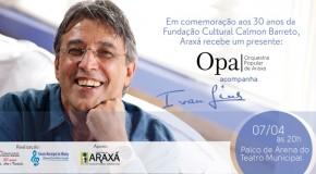 Orquestra Popular de Araxá se apresenta com o cantor Ivan Lins