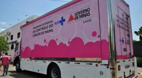 Carreta da Mamografia estaciona em Campos Altos com exames gratuitos