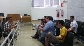 Vereador Sargento Amilton se reúne com equipe de segurança da Câmara