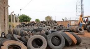 24 toneladas de pneus inservíveis retiradas de Ecoponto em Patos de Minas