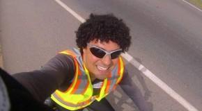 Escritor ciclista pedala quase 400 quilômetros para o Sempre um Papo, em Araxá