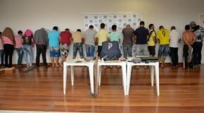 Vinte presos pela PC de Araxá, em Mega Operação no Triângulo Mineiro