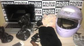 PM prende dois jovens de 18 e 19 anos e apreende menor, com 14, acusados de roubos em Araxá