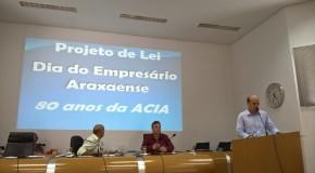 Aprovado o projeto de lei que cria o Dia do Empresário Araxaense