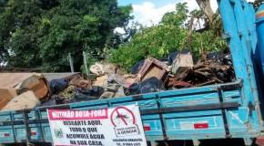 Material acumulado no Mutirão Bota Fora está sendo recolhido pela PMA