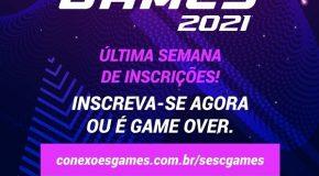 Abertas as inscrições para o torneio Sesc Games 2021