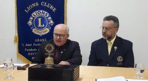 Empossado como presidente do Lions Clube Araxá o Jornalista Wellington Marques